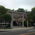 熊本城下の神社(被災)